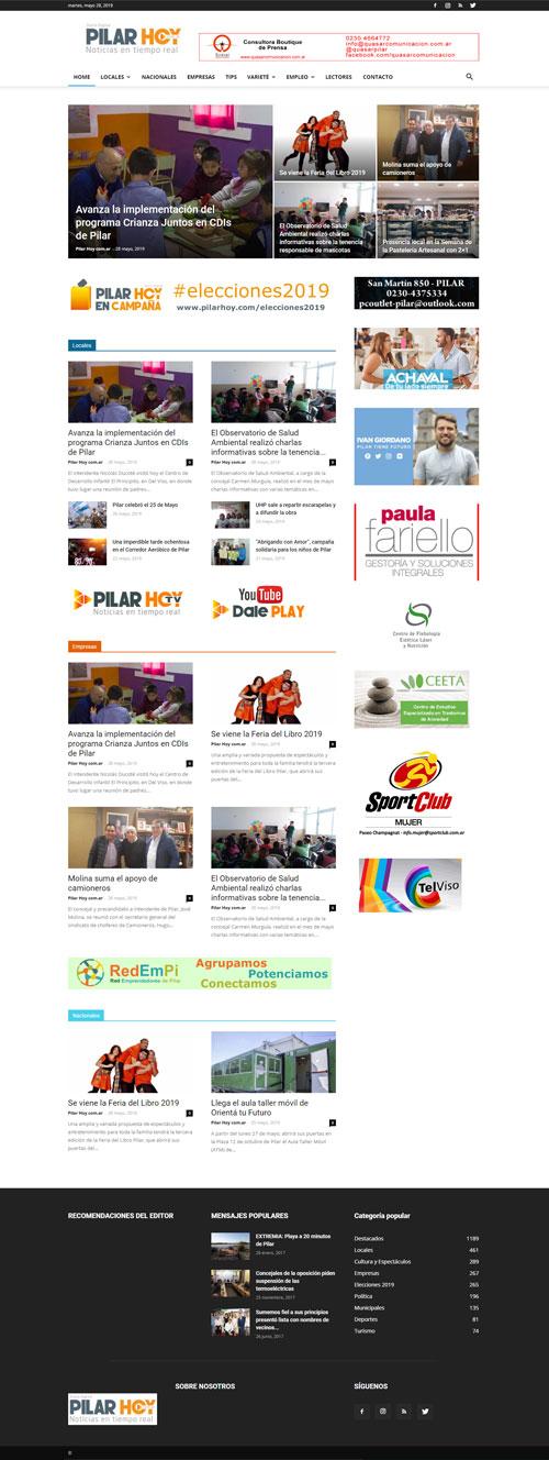Pilar Hoy Noticias Web