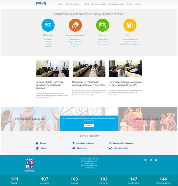 Sitio Web de la Honorable Concejo Deliberante del Pilar